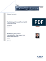 The Idolatry of Interest Rates Part 2 Financial Heresy and the Idolatry Companion Potential Utility in an Equity Risk Premium Framework