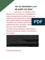 TX y RX de Audio Por Laser