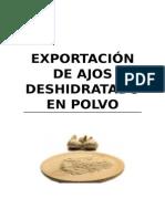 Exportacion de Ajos Deshidratado