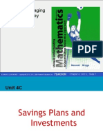 Savings Plans and Investments