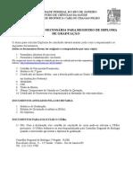 Providenciar Documentos Diploma