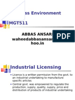 BE Industrial Licensing