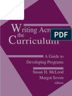 Writing Across the Curriculum - A Guide to Developing Programs