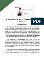 Manifiesto de la Asamblea Autoconvocada de Quito