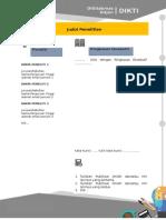 Template Profil Penelitian 2014
