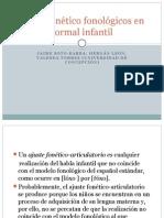 Ajustes Fonético Fonológicos Del Habla Infantil