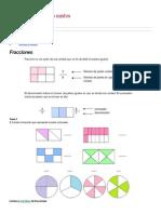 Para Ejercitar Las Fracciones y Números Mixtos
