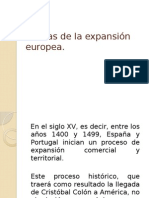 Causas del Proceso de Expansión Europeo