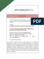 Convocatoria_revista Paralaje Nº 12