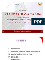 Paparan Standar Biaya TA 2016