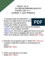 Crear programas en Borland C++