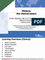 50 Malaria the Clinical Basics FINAL