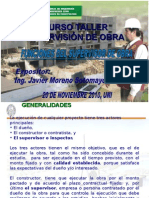 Funciones del Supervisor de Obra (Ing. Moreno Sotomayor)