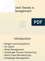 Current Trends in Management
