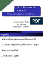 Especialización en Gestión de Sistemas de Potencia - Introducción a Sistemas de Potenica 11072015