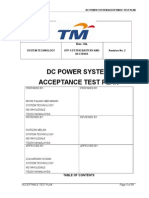 Telekom Malaysia DC System Test Rectifier Test Plan
