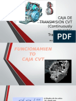 CAJA de TRANSMISIÓN CVT Continuously Variable Transmission