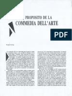 9. a Propósito de La Commedia Dell Arte