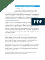 Mengenal & Menggunakan Google Docs