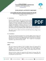 Post Activity Report_Area 2