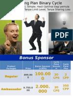 FLEXTER Presentasi Marketing Plan Baru Binary Cycle Gis4life Update 1 Okt 2012