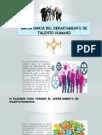 Importancia Del Departamento de Talento Humano1