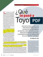 Qué le pasó a Toyota