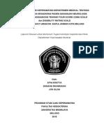 An Departemen Medikal Tentang Pengukuran Kesadaran Pasien Gangguan Neurologis Dengan Menggunakan Tekhnik Four Score Coma Scale[1]