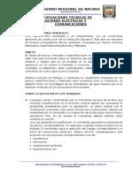 ESPECIFICACIONES TÉCNICAS - INSTALACIONES ELÉCTRICAS.doc