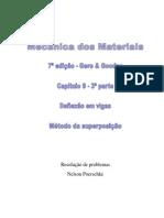 9.3 - Deflexão Em Vigas, Método Da Superposição Do Livro Mecânica Dos Materiais, Gere, 7ª Edição, Exercícios Resolvidos