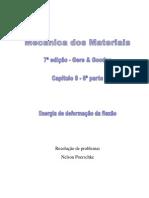 9.6 - Deflexão Em Vigas, Energia de Deformação Da Flexão, Gere, 7ª Edição, Exercícios Resolvidos