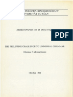 The Philippine chalenge to Universal Grammar