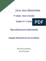 10.1 - Deflexão Em Vigas Estaticamente Indeterminadas, Equações Diferenciais Da Curva de Deflexão, Mecânica Dos Materias, Gere, 7ª Edição, Exercícios Resolvidos