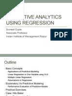 Predictive Analytics Using Regression