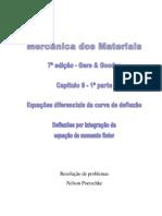 Exercícios Resolvidos, 1ª Parte, Equações Diferenciais Da Curva de Deflexão, Deflexão Por Integração Do Momento Fletor Do Livro Mecânica Dos Materiais - Gere 7ª Ed
