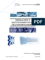 Cur So ManTenimiento Transformadores