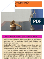 Juicio Ordinario Mercantil
