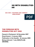 Topic 2.3 Persons With Disabilities Act 2008