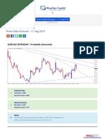 Forex Daily Forecast - 11 Aug 2015 Bluemaxcapital