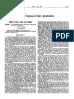 Disposiciones Generales Julio 1985
