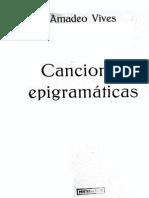 Vives Canciones Epigramaticas