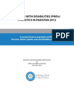 PWDs Statistics in Pakistan 2012 2