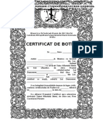 Certificat de Botez Nou