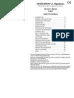 hemocron Operator's Manual