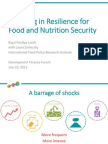 Investing in Resilience for Food and Nutrition Security