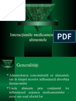 Interacţiunile Medicamentelor Cu Alimentele