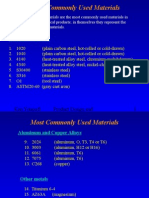 Most commonly used Materials and Selection.ppt
