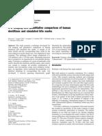 3-D Imaging and Quantitative Comparison of Human