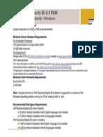 Req HW SAP BusinessObjects BI 4