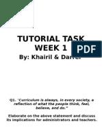 Curriculum studies - Tutorial task